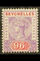 1890-92 96c Mauve & Carmine, SG 8, Very Fine Mint For More Images, Please Visit Http://www.sandafayre.com/itemdetails.as - Seychelles (...-1976)