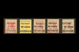 "1902 Surcharges Set Overprinted ""SPECIMEN"", SG 41/45s, Fine Mint. (5 Stamps) For More Images, Please Visit Http://www.sa - Seychelles (...-1976)"