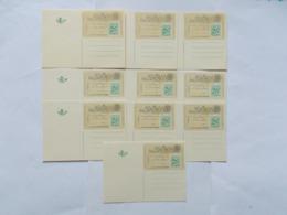 BELGIQUE - LOT DE 10 Du N°   N° BK 1  ( Voir Photo )  13 - Stamped Stationery