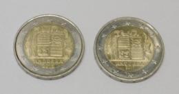 2 PIECES De 2 Euros ANDORRE - 2015 Et 2017 - Andorre