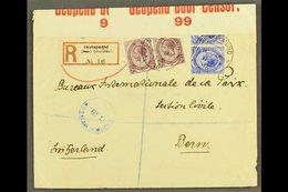 "1916 (28 Jul) Registered Cover (""Deutsch"" Obliterated From Reg Label) From Swakopmund To Berne (the Bureaux Internationa - África Del Sudoeste (1923-1990)"
