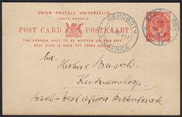 "1917 (10 Jul) 1d Union Postal Card To Keetmanshoop With Fine ""BERGLANDS"" Cds Postmark, Putzel Type B1 Oc (showing ""01.7. - South West Africa (1923-1990)"