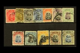 1924 Admiral 1d To 2s6d, SG 2/13, Cds Used, 8d With Hinge Thin. (12) For More Images, Please Visit Http://www.sandafayre - Southern Rhodesia (...-1964)
