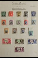 1924-1950 ATTRACTIVE FINE MINT COLLECTION On Leaves, Includes 1924-29 Admiral Set (10d, 1s & 5s Are NHM), 1931-37 Set (e - Southern Rhodesia (...-1964)