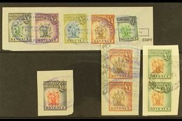 REVENUES 1954 Small Group Incl. £5, £10, £20 & £50 Used On Piece, Barefoot 38/43, Fine Used. For More Images, Please Vis - Southern Rhodesia (...-1964)