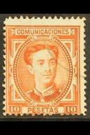 1877 10 Peseta Vermilion, SG 252, Mi 164, Fine Used For More Images, Please Visit Http://www.sandafayre.com/itemdetails. - Spain