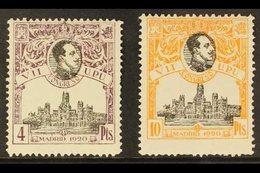 "1920 4p Purple-brown & 10p Orange UPU Congress Perf 13½ Top Values Both With ""A000,000"" (SPECIMEN) Control Figures On Ba - Spain"