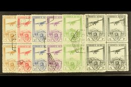1930 RAILWAY CONGRESS Airmail Set Complete, SG 547/552, In Superb Used Blocks Of 4. (6 Blks) For More Images, Please Vis - Spain
