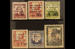 CANARY ISLANDS 1937 (5th May) Surcharged Complete Set, SG 20/25, Very Fine Mint. (6 Stamps) For More Images, Please Visi - Spain