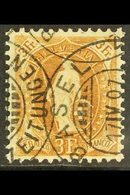 1905-07 3f Bistre-brown Standing Helvetia Perf 11½x12 (SG 213, Michel 80 D, Zumstein 92C), Very Fine Used With Fully Dat - Switzerland