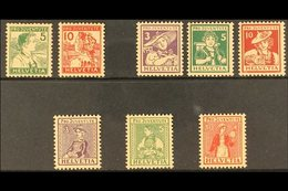 1915-17 PRO JUVENTUTE NHM. An Attractive Selection On A Stock Card That Includes 1915 Set (5c Is Hinged & Not Counted) 1 - Switzerland