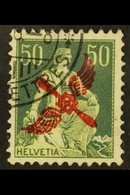 1919 50c Yellow-green & Light Green Air Overprint (Michel 145, SG 303), Very Fine Cds Used, Fresh. For More Images, Plea - Switzerland