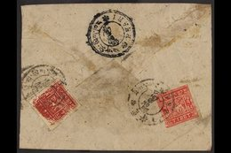 1933 - 60 1t Carmine And 2t Scarlet On Native Cover From Lhasa With Phari Arrival. Very Fine For This.  . For More Image - Tibet