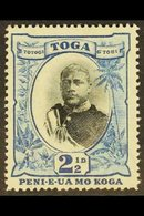"""1897 2½d Black And Blue With NO FRACTION BAR In """"½"""" Wmk Upright, SG 43a, Never Hinged Mint. For More Images, Please Visi - Tonga (...-1970)"""
