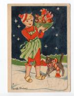 Mini AK - SWEDEN - CHRISTMAS / NEW YEAR - Artist Signed: MARGIT EKSTAM - CHILD - CAT CHRISTMAS COOKIES - Used  1951 - Altri