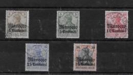 Sellos De Marruecos 34/37 Y 39 O Valor Catálogo 28.60€ - Oficina: Marruecos