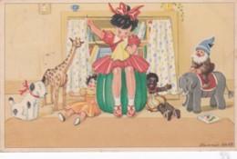 Illustrateur Hennie HOLT - Enfant- Jouets- Gnomes- Lutin (lot Pat 85) - Künstlerkarten