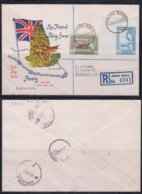 Malaya, Penang 1957 First Pictorial Stamps 20c + $5 Registered FDC To Singapore(Dated 26 Jun 57) - Malesia (1964-...)