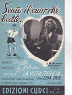 SENTO IL CUOR CHE BATTE DAL FILM LA VISPA TERESA EDIZIONI CURCI S.A. MILANO  AUTENTICA 100% - Musique & Instruments