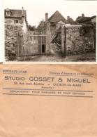 Lot De 4 Photographies Du Studio Gosset à Oloron-Ste-Marie (64), Travaux Sur Une Maison, Photos Vers 1950, 404 Peugeot - Lieux