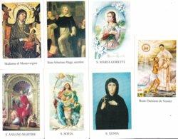 LOTTO N° 12 COMPOSTO DA 7 SANTINI O IMMAGINI RELIGIOSE DIVERSI SUL RETRO LE VARIE PREGHIERE - Religione & Esoterismo