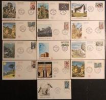 France - FDC - Premier Jour - Lot De 13 FDC - Thématique Lieux Monuments - 1965 - FDC