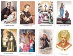 LOTTO N° 13 COMPOSTO DA 8 SANTINI O IMMAGINI RELIGIOSE DIVERSI SUL RETRO LE VARIE PREGHIERE - Religione & Esoterismo