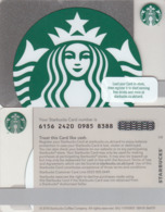UK STARBUKS - Metallic Siren , CN : 6156, Unused - Gift Cards