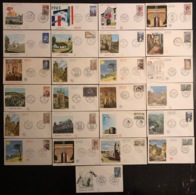 France - FDC - Premier Jour - Lot De 25 FDC - Thématique Lieux Monuments - 1965 - FDC