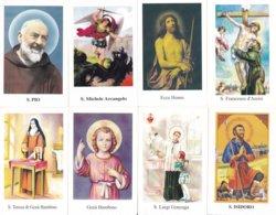 LOTTO N° 15 COMPOSTO DA 8 SANTINI O IMMAGINI RELIGIOSE DIVERSI SUL RETRO LE VARIE PREGHIERE - Religion &  Esoterik