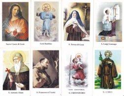 LOTTO N° 16 COMPOSTO DA 8 SANTINI O IMMAGINI RELIGIOSE DIVERSI SUL RETRO LE VARIE PREGHIERE - Religion & Esotericism