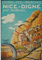 C. P. - PHOTO - CHEMINS DE FER DE LA PROVENCE - NICE A DIGNE PAR L'AUTORAIL - TOUET SUR VAR -REPRODUCTION DAFFICHE 1935 - Railway