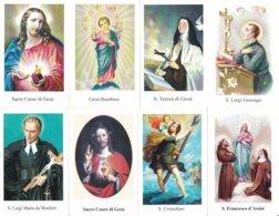 LOTTO N° 17 COMPOSTO DA 8 SANTINI O IMMAGINI RELIGIOSE DIVERSI SUL RETRO LE VARIE PREGHIERE - Religion & Esotericism
