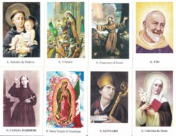 LOTTO N° 19 COMPOSTO DA 8 SANTINI O IMMAGINI RELIGIOSE DIVERSI SUL RETRO LE VARIE PREGHIERE - Religione & Esoterismo