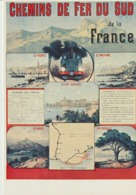 C. P. - PHOTO - CHEMINS DE FER DDU SUD DE LA FRANCE - REPRODUCTION D'AFFICHE 1900 - LIGNE LITTORAL TOULON ST RAPHAEL - - Spoorwegen