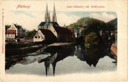 CPA AK Marburg Deutschhaushof Mit Muhlgraben GERMANY (899114) - Marburg