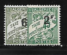 Algérie 1926/28 Yvert Taxe 12/13 Neufs* MLH Trace De Charnière (AA57) - Portomarken