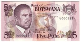 BOTSWANA5PULA1982P8UNCSignature 3 - 8A.CV. - Botswana