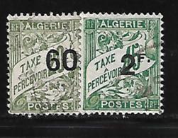 Algérie 1926/28 Yvert Taxe 12/13 Oblitérés (AA57) - Timbres-taxe