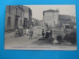 85 ) Sainte-hermine - N° 22 - La Grande Rue Et Le Pont Sur La Smagne -   Année 1937 - EDIT - Peré - Sainte Hermine