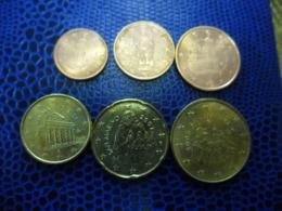 EUROS SAN MARINO SAINT MARIN 1 Ct, 2 Cts, 5 Cts, 10 Cts, 20 Cts, 50 Centimes - San Marino