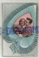 Couple. Fantaisie. Collage. Ruban Feuille, Paillettes.9/13,5 Cm - Couples