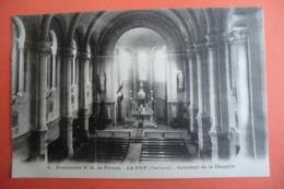 CPA 43 HAUTE LOIRE LE PUY EN VELAY. Pensionnat N.D De France. Intérieur De La Chapelle. - Le Puy En Velay