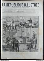 1888 LES GRÈVES À PARIS - BOULOGNE SUR MER - LE HAVRE ( L'AVANT PORT LE MUSÉE PALAIS DE LA BOURSE ) - Periódicos