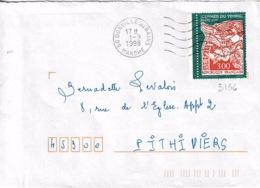 TP N° 3136 Seul Sur Enveloppe De Donville Les Bains - Poststempel (Briefe)