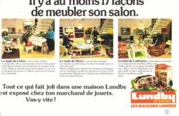 """PUB  MEUBLES MAISONS De  POUPEES  """" LUNDBY """" 1979 ( 2 ) - Vintage Clothes & Linen"""
