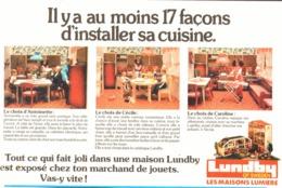 """PUB  MEUBLES MAISONS De  POUPEES  """" LUNDBY """" 1979 ( 3 ) - Vintage Clothes & Linen"""