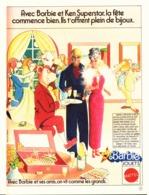 """PUB POUPEE """" BARBIE Et KEN SUPERSTAR """" 1978  (20 ) - Barbie"""