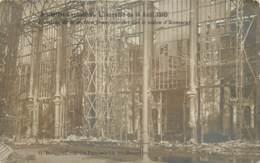 Belgique - Bruxelles - Carte-Photo - Exposition - L' Incendie Du 14 Août 1910 - Mostre Universali