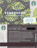 UK STARBUKS - Green Leaves , CN : 6148, Unused - Gift Cards